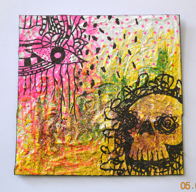New Original Small Bright Gothic Psychedelic Art Gift,Modern Home Decor Gift