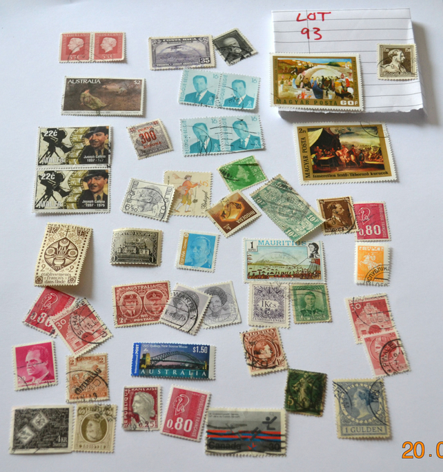 Vintage Used Stamps,Collage Art Materials,Collectable Postage Stamps