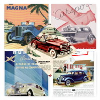 NEW! Cars Posters Postcard Blank On The Back Ideal For Wedding Guestbook.