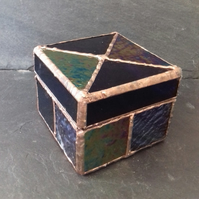 Large Stained Glass Jewellery or keepsake box