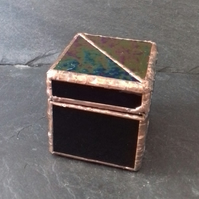 Small Purple Stained glass Jewellery box