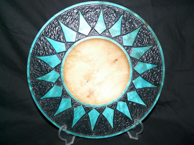 Wooden diamond bowl
