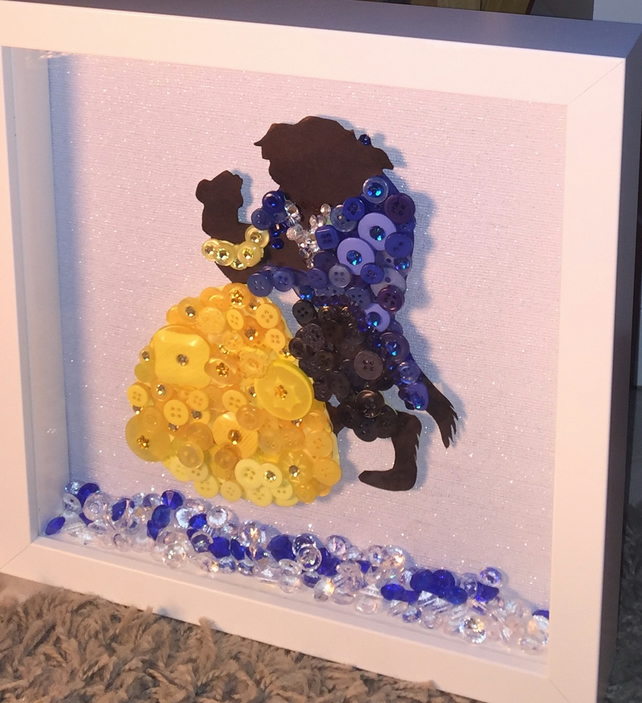 Disney's Beauty and the Beast Button Art Frame
