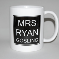 Mrs Ryan Gosling mug birthday gift Mother's Day gift for her celebrate divorce!!