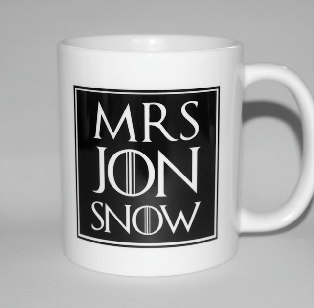 Mrs Jon Snow mug birthday gift Mother's Day gift for her celebrate divorce!!