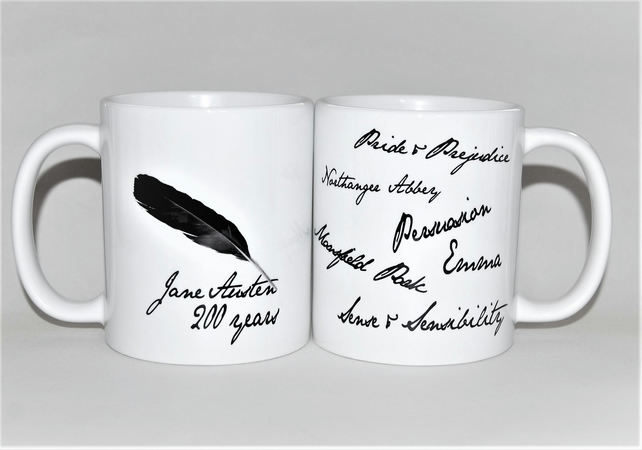 Jane Austen books mug to celebrate the 200th Anniversary!