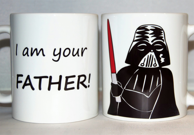 Star Wars mug Darth Vader mug Father's Day mug gift for him I am your father!