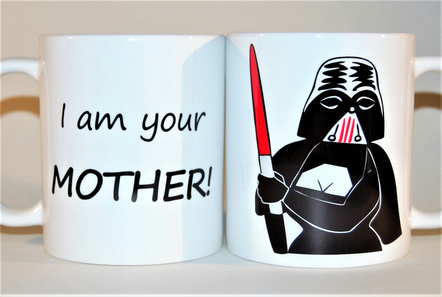 Star Wars mug Darth Vader mug Mother's Day mug gift for him I am your mother!!
