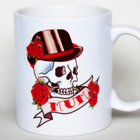 Tattoo Skull Mum mug for Mother's Day Birthday gift for her New Mum gift