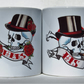 Tattoo Skull mugs Wedding mugs Mr and Mrs Mugs His and Hers mugs