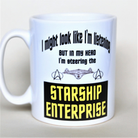 Star Trek mug Starship Enterprise mug Father's Day mug gift for him