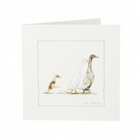 New Arrival Baby Ducks Card
