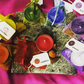 Meditation Candle Bag Set - 7 Chakra Colours with Incense and Healing Crystals