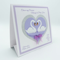 CARD to FRAME to GIFT Personalised Engagement Card Apex Layered 3D Design