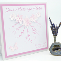 Birthday, Anniversary, Wedding Card Beautifully Layered on our New Apex Design