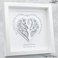 Silver Wedding Gift. Personalised 25th Anniversary Frame. Parents Anniversary.