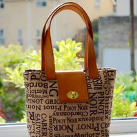 Hessian Wine Handbag