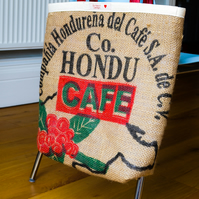 Upcycled Coffee Sack Shopper