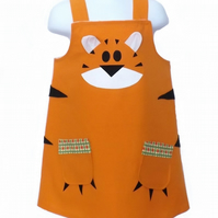 Childrens and toddlers Tiger Dress up Pinafore Dress
