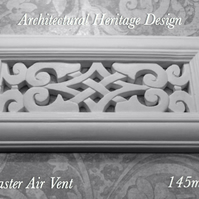Victorian Plaster Air Vent Cover- 304mm x 145mm x 25mm