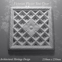 Victorian Plaster Air Vent Cover 230mm x 230mm x 230mm