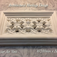Victorian plaster air vent cover