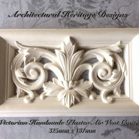 Victorian Handmade Plaster Air Vent Cover