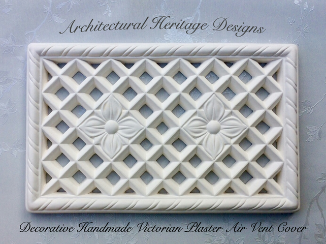 Decorative Handmade Victorian Plaster Air Vent Cover