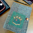Harris Tweed Removable A5 Notebook Cover Ideal Father' Day or Mothers Day gift.