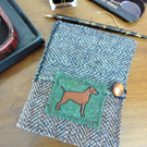 Harris Tweed Notebook Cover Removable A6 Ideal Father' Day or Mothers Day gift.