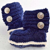 Hand Knitted Baby Ugg Booties