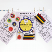 Colour-in sweet recipe cards