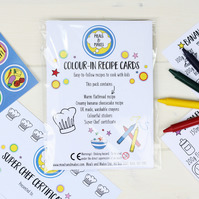 Colour-in recipes, gift for a child. Free P&P!