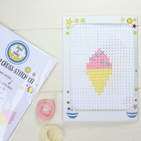 Cross-stitch sewing kit for kids. Free P&P!