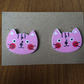 Cute Cat Button Earrings