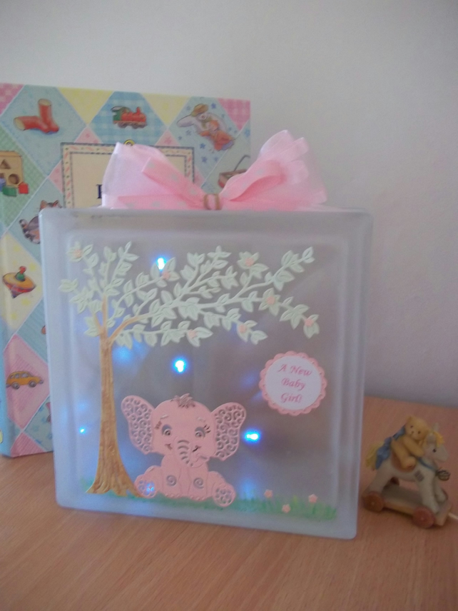 New Baby  Musical Nightlight, Keepsake, Gift, Nursery Decor