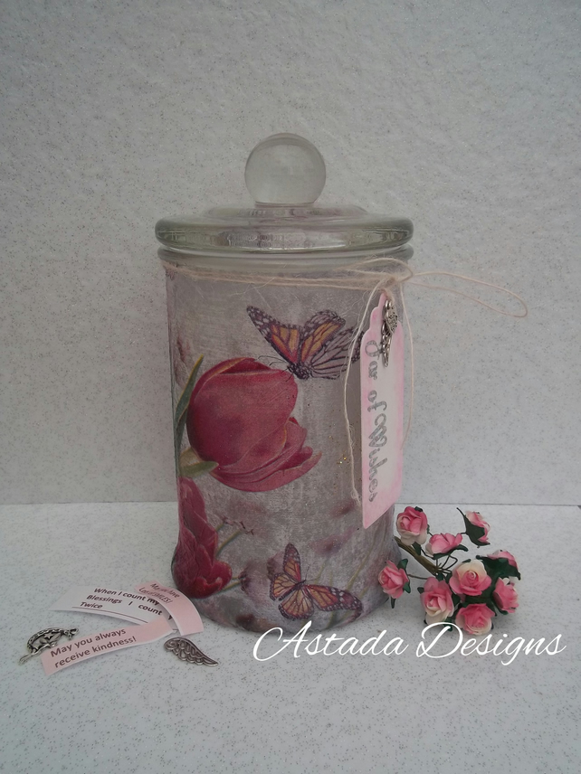 Personalised Ladies Jar of Wishes Unique Keepsake Gift