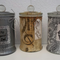 Personalised Mens Jar of Wishes Unique Keepsake Gift