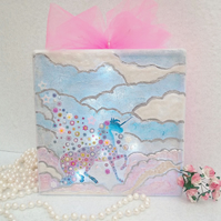Unicorn Light, Unicorn Room Decoration, Unicorn Illuminated Glass Block Keepsake
