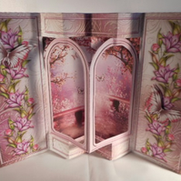 "6.5x5"" 3d Handmade Double Arch Pop Out Special Birthday Card Complete with Match"