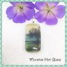 Landscape Pendant, Scenic Pendant, Tree Reflection, Decal, Dichroic Fused Glass