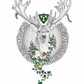 Celtic Stag with robin and wren Christmas Card