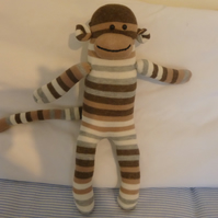 Hand made sock monkey