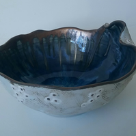 Blue Sea Urchin bowl