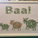 Baa! Cut out artwork
