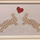 Love Bunny cut out art