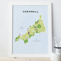 A4 Map of Cornwall