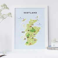A4 Map of Scotland