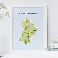 A4 Map of Bedfordshire