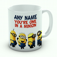 Personalised Despicable Me You're One In A Minion Mug